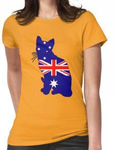 Australian Flag - Cat Womens Fitted T-Shirt