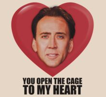 Nicolas Cage - You Open the Cage to My Heart | Women's T-Shirt