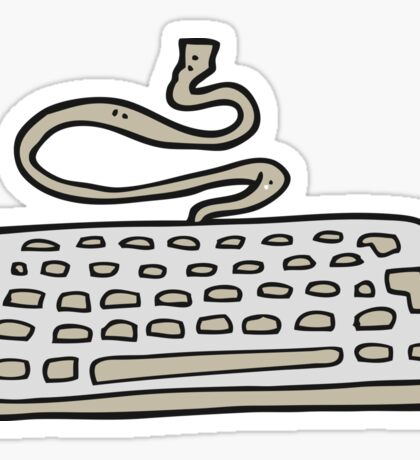 cartoon computer keyboard Sticker