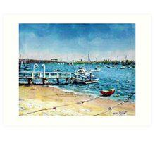 Newport Harbor  Balboa Island Art Print
