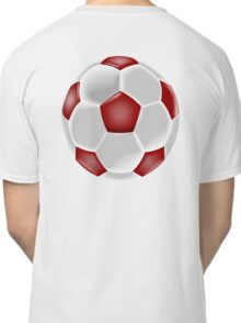 Soccer, Soccer Ball, Ball, Football, Red and white Classic T-Shirt