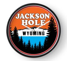 JACKSON HOLE WYOMING Mountain Skiing Ski Snowboard Snowboarding 9 Clock