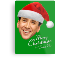 Merry Christmas from St Nic-olas Cage Metal Print