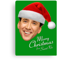 Merry Christmas from St Nic-olas Cage Canvas Print