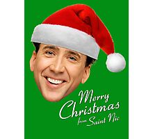 Merry Christmas from St Nic-olas Cage Photographic Print
