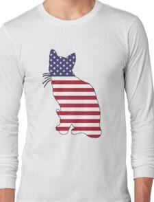 American Flag – Cat Long Sleeve T-Shirt