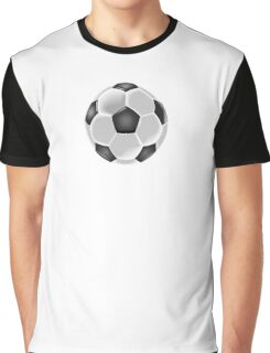 Soccer, Soccer Ball, Ball, Football, Black and white Graphic T-Shirt