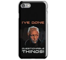 Blade Runner - Design 1b - Questionable Things iPhone Case/Skin