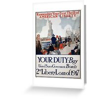 Vintage poster - Statue of Liberty Greeting Card