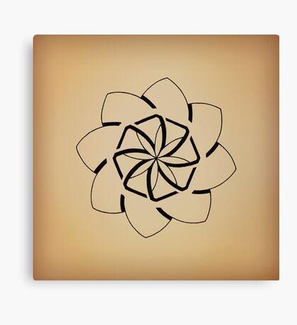 Mandala #207 || Tan Canvas Print