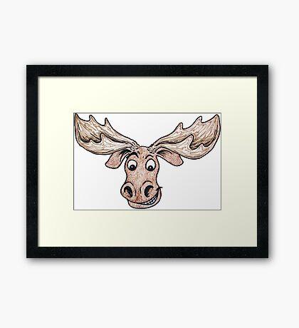 Silly Moose Framed Print