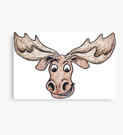 Silly Moose Canvas Print