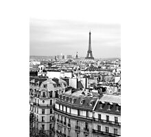 Paris rooftops and Eiffel Tower Photographic Print
