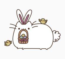Cute Kawaii Easter Bunny Cat Kids Tee