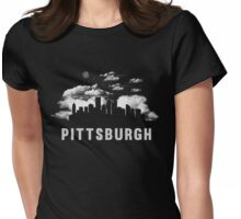 Pittsburgh Pennsylvanis Skyline CityScape Womens Fitted T-Shirt