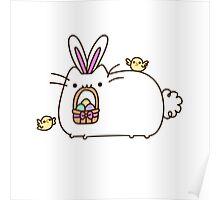 Cute Kawaii Easter Bunny Cat Poster