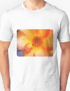 Peach and Yellow Rose Unisex T-Shirt