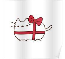 Cute Kawaii Present Cat Poster