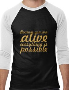 """Because you are... """"Thich Nhat Hanh"""" Inspirational Quote Men's Baseball ¾ T-Shirt"""
