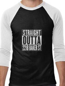 Straight Outta 221B Baker St Men's Baseball ¾ T-Shirt