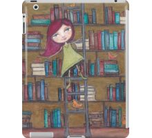 Library Girl Books and Birds iPad Case/Skin