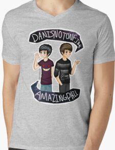 Danisnotonfire & Amazingphil  Mens V-Neck T-Shirt