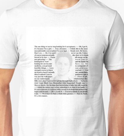 "Scrubs - Quotes of Dr. John ""JD"" Dorian Unisex T-Shirt"