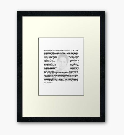 "Scrubs - Quotes of Dr. John ""JD"" Dorian Framed Print"