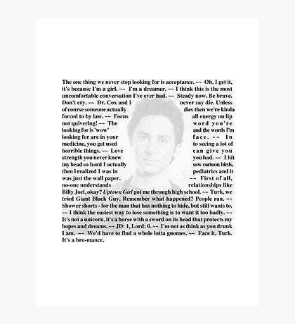 "Scrubs - Quotes of Dr. John ""JD"" Dorian Photographic Print"