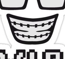 pixel hornbrille zahnspange freak geek nerd computer maus steuerung hand klicken surfen web desktop VIP pc pfeil zeigen finger  Sticker