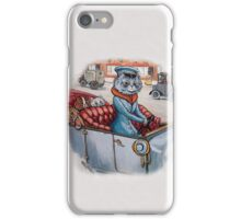 Cat Chauffeur with Kittens in Tow by Louis Wain iPhone Case/Skin