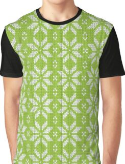 Knitted snowflake Graphic T-Shirt