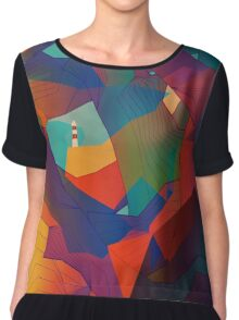 The Rocks by the Lighthouse Chiffon Top