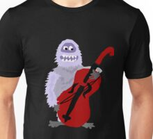 Funky Cool Abominable Snowman Playing Cello Art Unisex T-Shirt