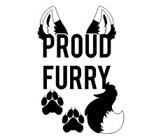 PROUD FURRY  -clear tips- Photographic Print