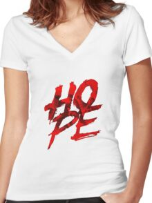 Rogue One Hope Women's Fitted V-Neck T-Shirt
