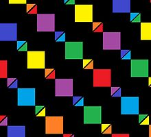 Rainbows, Triangles, and Squares! - Black by Hayden Shepherd