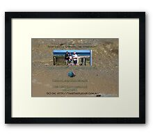 GO ON!! Take the pledge! Keep on keeping on keeping it beautiful!  Framed Print