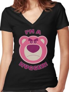 Toy Story Lotso Huggin Bear Women's Fitted V-Neck T-Shirt