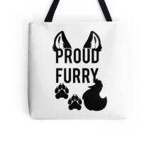 PROUD FURRY   -black- Tote Bag