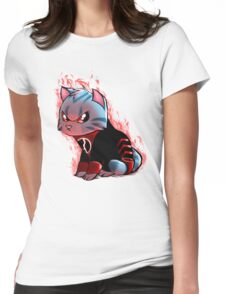 RAGE KITTY Womens Fitted T-Shirt
