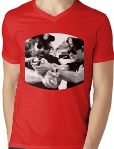 Terence Hill & Bud Spencer - Italian actors (policemen version) Mens V-Neck T-Shirt