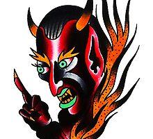 Devil FlamesTattoo design by DRtattoo