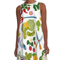 Vegetable Garden A-Line Dress