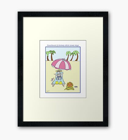 Constance & Scamp Catch Some Rays Framed Print