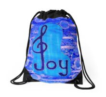 Music is joy by Nikki Ellina Drawstring Bag