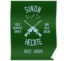 Sinon Hecate (Blue) Poster