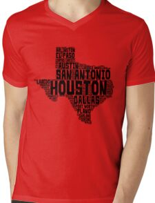 Texas Love Mens V-Neck T-Shirt