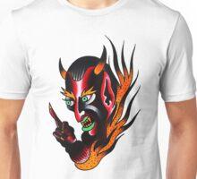 Devil FlamesTattoo design Unisex T-Shirt