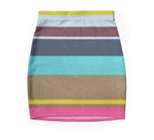 striped synthetic fabric Mini Skirt